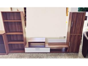 TV-Lowboard mit zwei Schubkästen sonoma-eiche/braun (gebraucht)