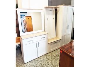 Garderobe mit Spiegel [4-teilig] kirschbaum/gold (gebraucht)