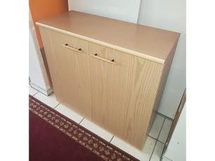 Schreibtisch Aristote mit 3 Schubkästen sonoma-eiche/weiss