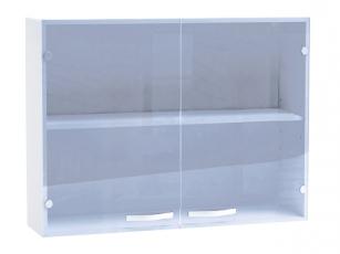 Küchenhängeschrank Cherry 491506 100cm mit Glastüren weiss