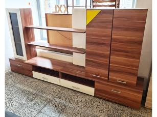 Sideboard glänzend kirschbaum 3-türig mit 3 Schubkästen (gebraucht)