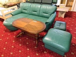 Moderne Eckcouch Acra mit Schlaffunktion und Bettkasten weiss/hellgrau