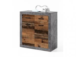 Kommode Indiana betonoxid/old wood