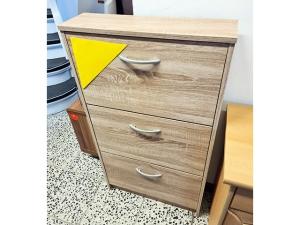 Garderobenschrank mit Spiegel zwetschke-weiss (gebraucht)