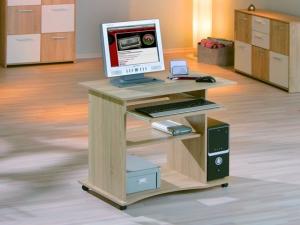 PC-Schreibtisch Durini mit Tastaturauszug sonoma-eiche (NEU)