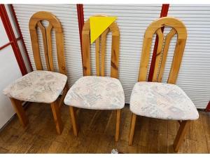 4 x Stühle gepolstert nussbaum/beige (gebraucht)