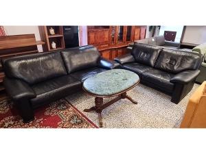 Couch 3/1/1 grau/braun gemustert (gebraucht)