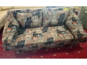 Moderne Couch 2/1 rot (gebraucht)