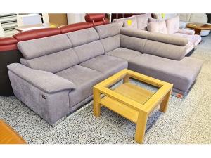 Ledercouch 3/1/1 dunkelgrün mit TV-Sessel (gebraucht)