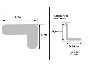 Moderne Eckcouch Step Bis mit Schlaffunktion und Bettkasten hellgrau/grau