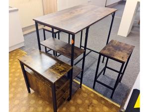 Tischgruppe Whitney mit 4 Stühlen weiss