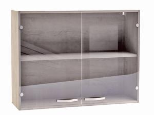 Küchenhängeschrank Bianca 391706 100cm mit Glastüren sonoma-eiche