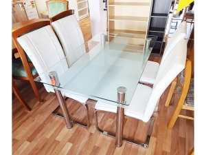 Küchentisch ausziehbar + 2 Stühle eiche (gebraucht)