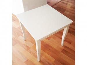 Italienische Stilmöbel Beistelltisch Selva quadratisch glänzend-cremeweiss (gebraucht)