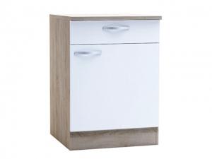 Küchenunterschrank Bianca 391703 60cm sonoma-eiche/weiss