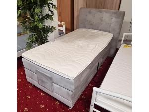 Liege mit Matratze und Bettkasten braun (gebraucht)