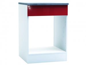 Herdumbauschrank Cherry 491501 60cm hochglanz-rot/weiss