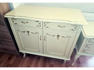 Sideboard Lift 4-türig mit 3 Schubkästen sonoma-eiche/weiss