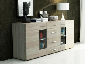 Sideboard Tango mit LED-Beleuchtung sonoma-eiche