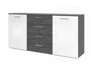 Sideboard Tango mit LED-Beleuchtung sonoma-eiche/weiss