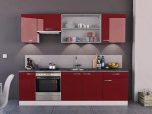 Küchenunterschrank Cherry 491500 40cm hochglanz-rot/weiss