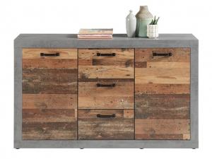 Sideboard Indiana betonoxid/old wood