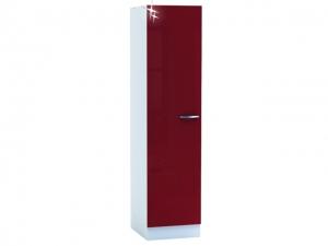 Küchenwirtschaftsschrank Cherry 491509 50cm hochglanz-rot/weiss