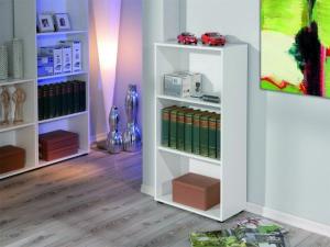 Bücherregal Arco 2 mit 3 Fächern weiss