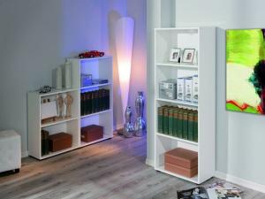 Bücherregal Arco 3 mit 4 Fächern weiss