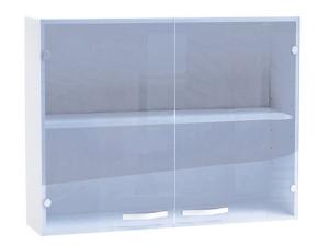 Küchenhängeschrank Spicy 391806 100cm mit Glastüren weiss