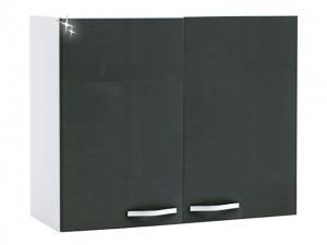 Küchenhängeschrank Spicy 391808 100cm hochglanz-grau/weiss