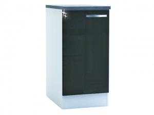 Küchenunterschrank Spicy 391800 40cm hochglanz-grau/weiss