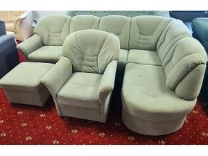 Couch 3/1 beige mit Schlaffunktion,Bettkasten und Holzabsetzungen (gebraucht)