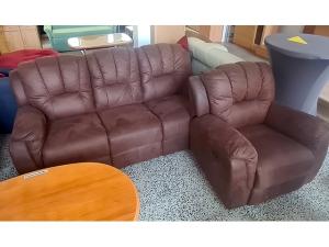 Couch 3/1 mit Schlaffunktion, Bettkästen und Kissen grau-meliert/schwarz (gebraucht)