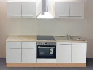 Küchenblock Welcome X mit Geräten sonoma-eiche /weiss (NEU)