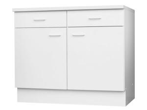 Küchenunterschrank Top 107-100 100cm weiss