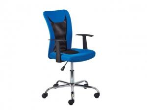 Bürostuhl Donny höhenverstellbar blau/schwarz