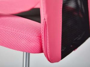 Bürostuhl Donny höhenverstellbar pink/schwarz