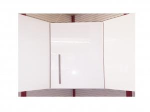 Kücheneckhängeschrank Santorin 105-60 60cm sonoma-eiche / hochglanz-weiss