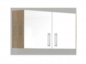 Küchenhängeschrank Santorin 103-100 100cm sonoma-eiche / hochglanz-weiss