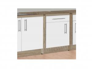 Küchenunterschrank Santorin 107-50 50cm sonoma-eiche / hochglanz-weiss