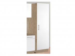 Küchenwirtschaftsschrank Santorin 119 50cm sonoma-eiche / hochglanz-weiss