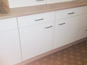 Küchenunterschrank Sonea 107-100 100cm sonoma-eiche / matt-weiss