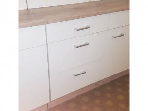 Küchenunterschrank Sonea 108-50 50cm sonoma-eiche / matt-weiss