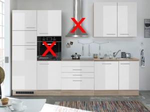 Küchenblock Laurel ohne Geräte sonoma-eiche / hochglanz-weiss (NEU)