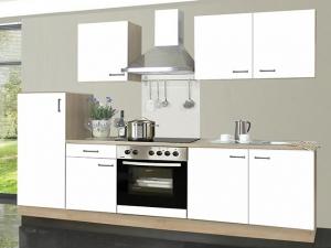 Küchenblock Biggi mit Geräten sonoma-eiche / weiss (NEU)