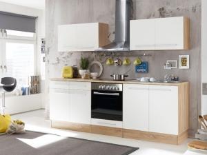 Küchenblock Welcome X ohne Geräte sonoma-eiche /weiss (NEU)