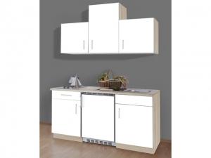 Singleküche Sonea mit Geräten sonoma-weiss (NEU)