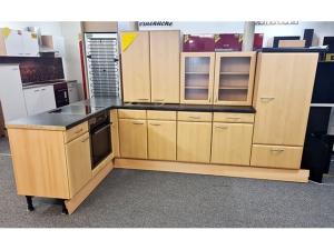 Küchenzeile mit Geräten hochglanz-anthrazit/sonoma-eiche (gebraucht)